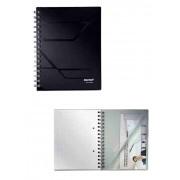 Caiet A5, cu spirala, 80 file, matematica, LEITZ Prestige - coperta neagra
