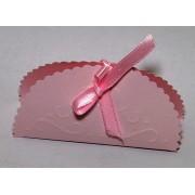 Cutiute marturii nunta-botez, culoare roz, forma scoica