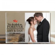 "Two """"We Decided on Forever"""" Custom Acrylic Photo Blocks"