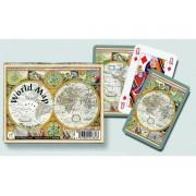 Jeu De Cartes - Coffret De 2 X 55 Cartes : Carte Du Monde