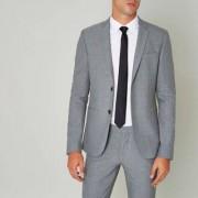 River Island Grey super skinny fit suit jacket