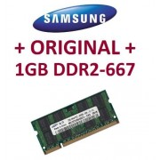 Samsung - Memoria RAM SO-DDR2 1 GB 200 pin DDR2-667 (PC2-5300) 64Mx16x8 double side (M470T2864QZ3-CE6)