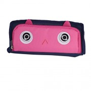 Saamarth Impex Trendy Tiny Eyes Multi Utility Pouch Pink Pen Pencil Storage Box SI-1842