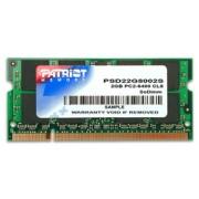 Patriot Memory Patriot Memory DDR2 2GB CL5 PC2-6400 (800MHz) SODIMM PSD22G8002S