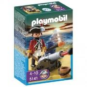 Playmobil Redcoat Cañón Oficial 5141-4 años +