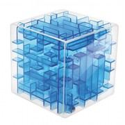Three Dimensional Blue Transparent Cube Maze Preschool Toys Educational Toys