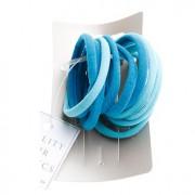 Trisa - Set 10 elastice de par albastru