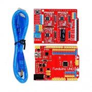 BOOOLE 3D Kit(3Dv3+Red Board Uno+Four Pieces Of 4988+30Cm Transparent Blue Usb Line) - DIY Maker Open Source