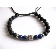 bratara unisex cu roca vulcanica, lapia lazuli 27679