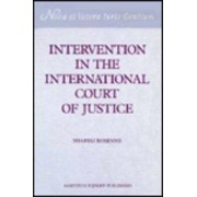 Intervention in the International Court of Justice by Shabtai Rosenne