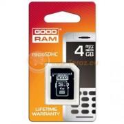 Goodram Karta pamięci Goodram micro SDHC 4 GB + adapter
