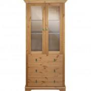 LANDSCAPE VITRINE massiv Beige, Glas, Holz, Kiefer, massiv, 83x186x37.5 cm