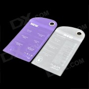 Universal Protective PVC Waterproof Bag for Iphone / HTC / Samsung - Purple + White (2 PCS)
