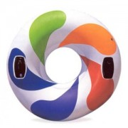 Intex Inflatable Colour Whirl Tube - Floating Rubber Ring