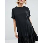 ASOS Maternity T-Shirt Dress With Ruffle Hem - Black