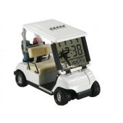 Reloj despertador con forma de carrito de golf blanco