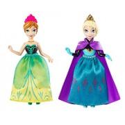 Mattel Disney Frozen Princess Sisters Celebration Anna And Elsa Small Doll, 2-Pack