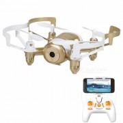 JXD 512DW 2.4GHz wi-fi FPV 4-CH mini RC quadcopter - oro + blanco