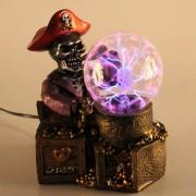 Globo de Plasma Halloween Caveira Pirata