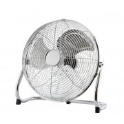 FK Technics 4738639 - Ventilator de podea, 45 cm, 3 viteze, crom, 140W