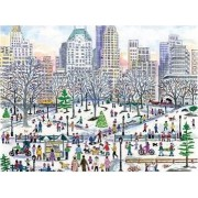 Michael Storrings Winter in Central Park 1000 Piece Puzzle by Michael Storrings