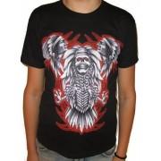 Koszulka indiańska - INDIANIE I CZASZKA