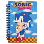 Classic Sonic Sonic Index Finger Pointing Notebook