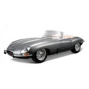"""Bburago 1812046 Gold Jaguar """"E"""" Cabriolet (1961) - Modellino in scala 1:18"""
