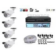 Kit videosorveglianza DVR 4 canali telecamere HD 1200TVL cavo 100m