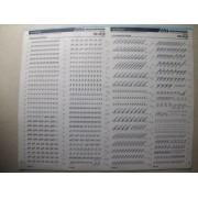 Lettres Et Chiffres Transfert En Planche 33x40cm Art Script Mecanorma 12.8mm Ref 129.48 Ln