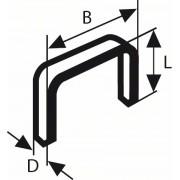 Capse din sârmă fină tip 53 11,4 x 0,74 x 6 mm