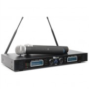 Power Dynamics PD732H 2 x 16-channel UHF Wireless Microphone System 2 x Wireless Handheld Microphones