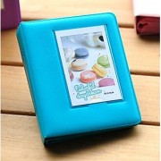 Woodmin Candy Color Fuji Instax Mini Book Album For instax mini7s 8 25 50s Film---Peacock Green
