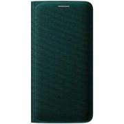 Husa Flip Wallet Samsung pentru Galaxy S6 Edge G925, Textil (Verde)
