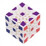 3 x 3 x 3 Wheel Gear Style Rubik's Cube - White + Multicolor