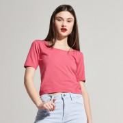 House - Krótka bluzka z wiązaniem na plecach - Różowy
