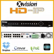 NVR rekordéry HD IP pro 16 kamer 1080p - VGA, HDMI, ONVIF