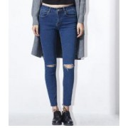 Feminino Calça Lápis Pantalon GAREMAY JEANS ESCURO
