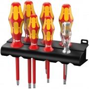 160 i/7 Rack Assortimento di cacciaviti Kraftform Plus serie 100 + cercafase + rack, 7 pezzi - 05006147001