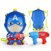 Theme My Party Holi Pressure Water Gun Pichkari with Back Pack Tank Squirter In Kids Favourite Characters