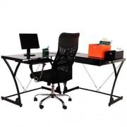 Mesa Escrivaninha para Computador Bérgamo Preto - Acasa