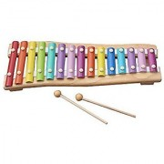 Zewik 15 Note Colorful Xylophone Kids Wooden Musical Instrument Toy Hand Knock Piano Educational Toy for Kids Best Gift