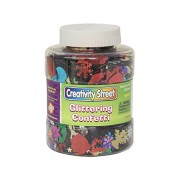 Shaker Jar With Glittering Confetti, 250 Grams, Ast, Sold as 1 Each