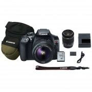 Cámara Reflex Canon Eos Rebel T6 18-55 Wifi Y NFC 18 Mp Bundle Estuche Zoom Pack Y Memoria