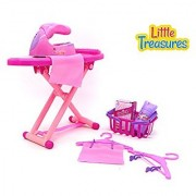 Laundry Playset by Little Treasures toy family Mini set featuring a toy iron and ironing board toy basket toy hangers