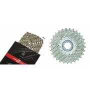 CAMPAGNOLO Cassette Super Record 11-29 et chaîne Record 11 vitesses - Kit pignon et chaîne - set argent Kits de remplacement