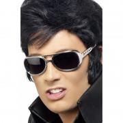 Elvis brillen in de kleur zilver