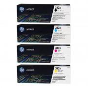 HP CF380X CF381A CF382A CF383A Set of 4 Colour Toner Cartridges