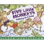 Five Little Monkeys Sitting in a Tree Book & Cd by Eileen Christelow