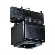 Caja de enchufe para televisores de 3 fases de corriente negro